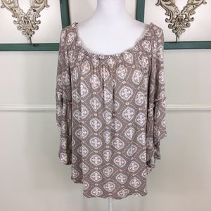 Time and Tru Wide Bell Sleeve Blouse Womens Large
